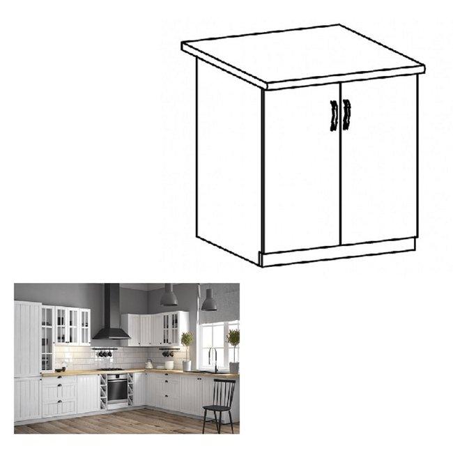 Dolná skrinka s dvierkami D80, biela/sosna andersen, PROVANCE