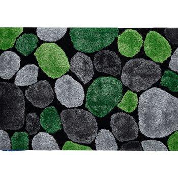 Koberec, zelená/sivá/čierna, 70x210, PEBBLE TYP 1