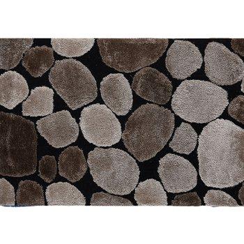 Koberec, hnedá/čierna, 70x210, PEBBLE TYP 2