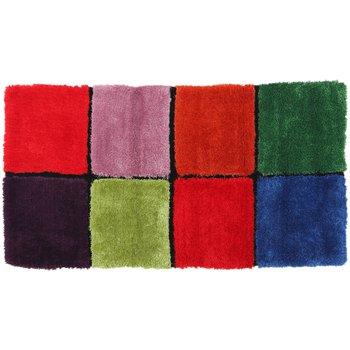 Koberec, červená/zelená/ružová/modrá, 80x150, LUDVIG TYP 4