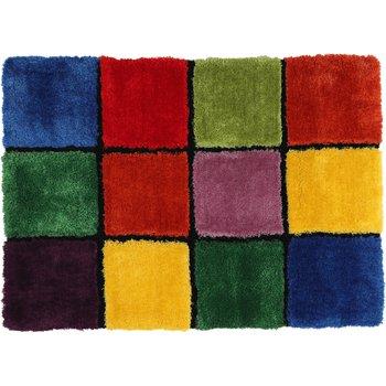 Koberec, červená/zelená/žltá/fialová, 100x140, LUDVIG TYP 4
