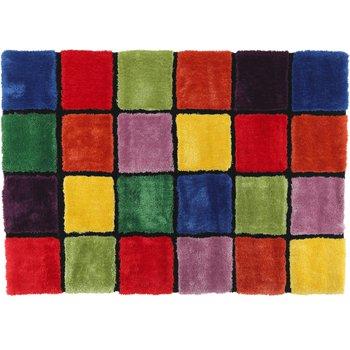 Koberec, červená/zelená/žltá/fialová, 120x180, LUDVIG TYP 4