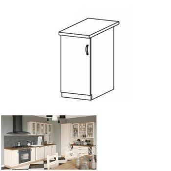 Spodná skrinka, biela/sosna nordická, ľavá, ROYAL D30