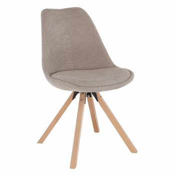 Stolička, béžová/buk, SABRA