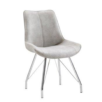 Stolička, sivá/chróm, MADORA