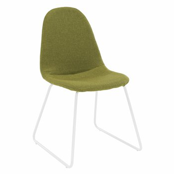 Stolička, látka zelená/kov, ONTARI