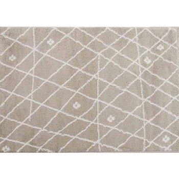 Koberec, béžová/biela, 133x190, TYRON