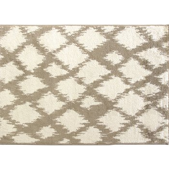 Koberec, krémová/biela, 133x190, LIBAR