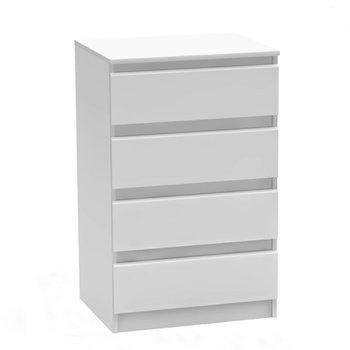 4 šuplíková komoda, biela, HANY NEW 014