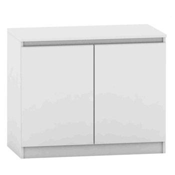 2 dverová komoda, biela, HANY NEW 008