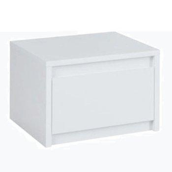 2x nočný stolík, biela/extra vysoký lesk HG, ITALIA