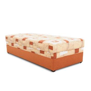 Váľanda s úložným priestorom, oranžová, 90x200, EMILIA
