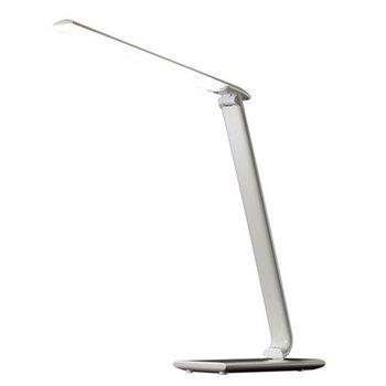 Stolná LED lampa s USB zdierkou, biely lesk, WO37-W