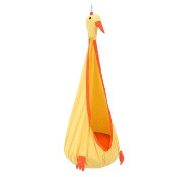 Závesné kreslo, žltá/oranžová, TOLO