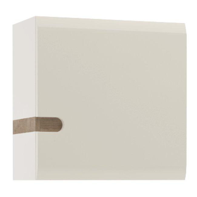 Skrinka, biela extra vysoký lesk HG/dub sonoma tmavý truflový, LYNATET TYP 65