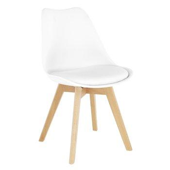 Stolička, biela/buk, BALI 2 NEW