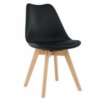 Stolička, čierna/buk, BALI 2 NEW