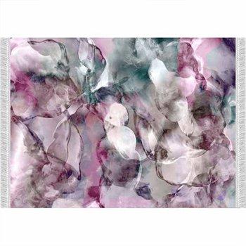 Koberec, ružová/zelená/krémová/vzor, 120x180, DELILA
