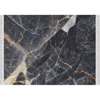 Koberec, vzor čierny mramor, 80x150, RENOX TYP 1