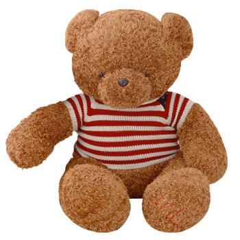 Plyšový medveď, svetlohnedá, 113cm, BOWEN