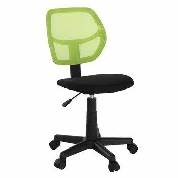 Otočná stolička, zelená/čierna, MESH