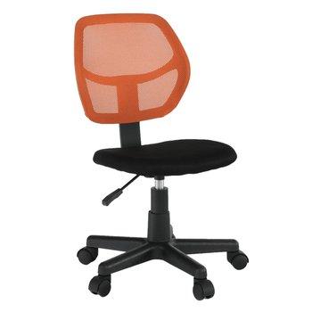Otočná stolička, oranžová/čierna, MESH