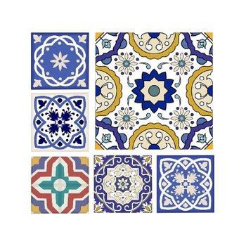 Obraz tlačený na plátno, modrá/biela/žltá, DX TYP 1 MODROTLAČ