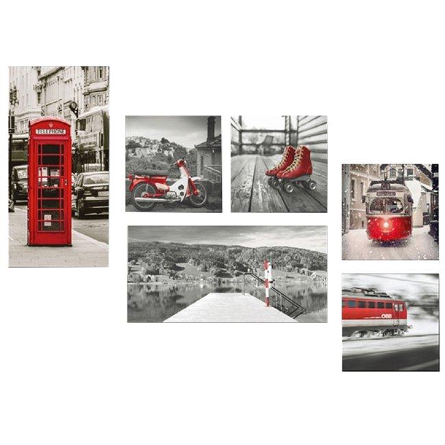 Obraz tlačený na plátno, viacfarebný, DX TYP 2 LONDÝN