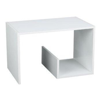 Príručný stolík/polica, biela, VOLKER