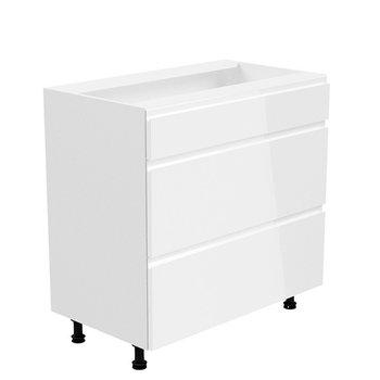 Spodná skrinka, biela/biela extra vysoký lesk, AURORA D80S3