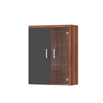 Závesná vitrína, slivka/sivý grafit, CHERIS 4