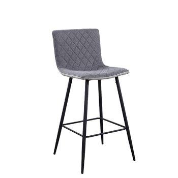 Barová stolička, svetlosivá/sivá/čierna, TORANA