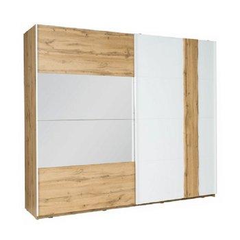 2-dverová skriňa, dub wotan/biela, VODENA 250