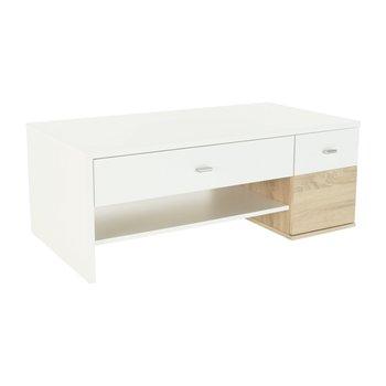 Konferenčný stolík, dub sonoma/biela, DILANO