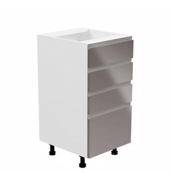 Spodná skrinka, biela/sivá extra vysoký lesk, AURORA D40S4