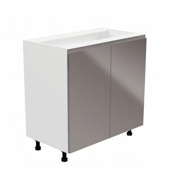 Spodná skrinka, biela/sivá extra vysoký lesk, AURORA D80