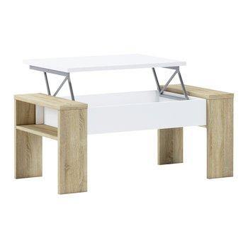 Konferenčný stolík, dub sonoma/biela, PULA