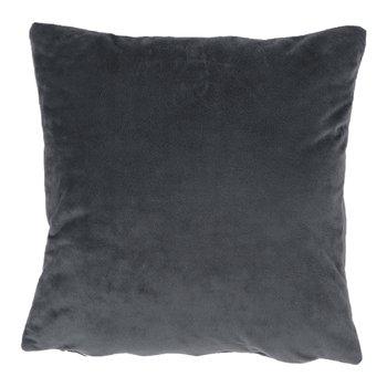 Vankúš, zamatová látka tmavosivá, 60x60, OLAJA TYP 8