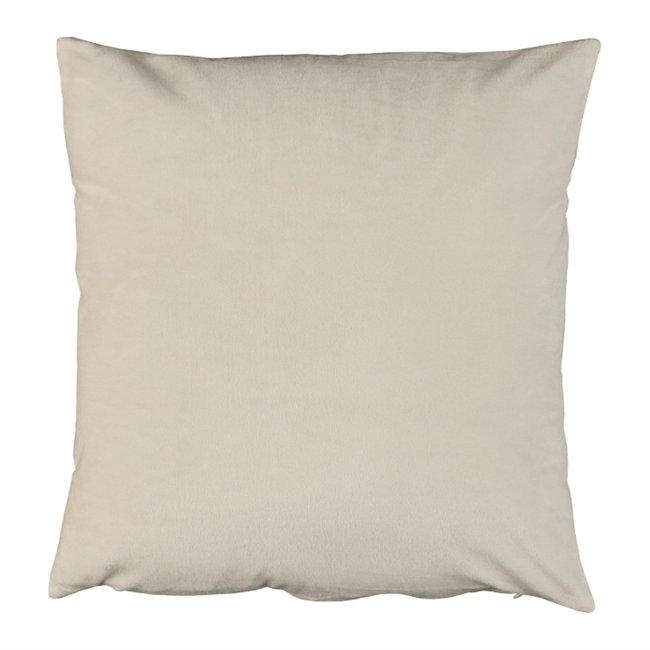 Vankúš, zamatová látka smotanová, 60x60, OLAJA TYP 1