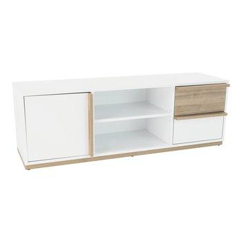 RTV stolík, orech select/biela, KNOX E4