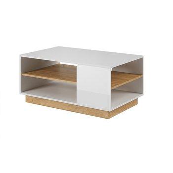Konferenčný stolík, biela/dub grandson, CITY