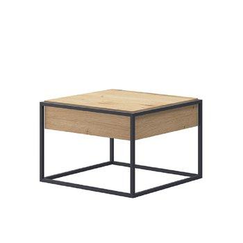 Konferenčný stolík, dub artisan/čierna, SPRING EL60