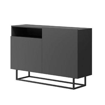 Komoda, grafit/čierna, SPRING EK120