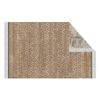 Obojstranný koberec, vzor/ hnedá, 120x180, MADALA