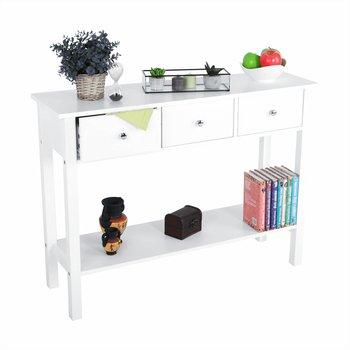 Konzolový stolík, biela, NITRO