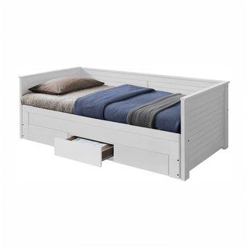 Rozkladacia posteľ, biela, GORETA
