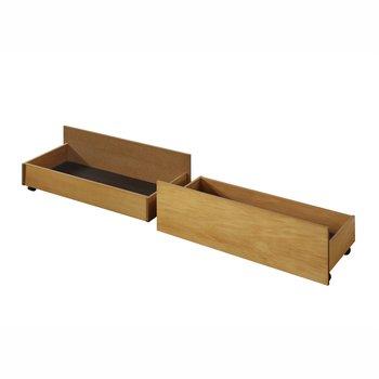 2 kusy, zásuvný kontajner pod posteľ, dub, MIDEA