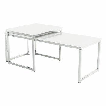 Set 2 konferenčných stolíkov, biela extra vysoký lesk, ENISOL TYP 2