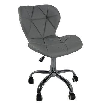 Kancelárske kreslo, svetlosivá/chróm, ARGUS