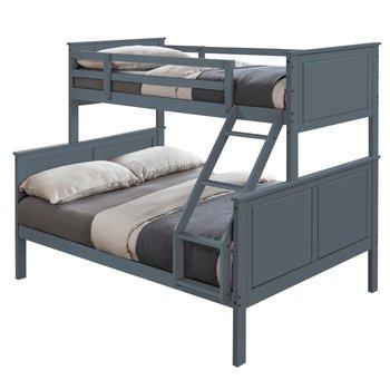 Poschodová rozložiteľná posteľ, sivá, NEVIL